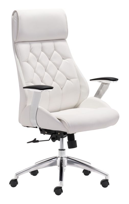 office chair white leather. White-leather-chair Office Chair White Leather